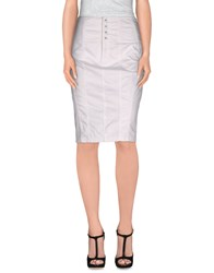 Guess Jeans Skirts Knee Length Skirts Women White