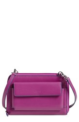 Women's Lodis 'Audrey Collection Tracy' Leather Convertible Phone Wallet Purple Plum