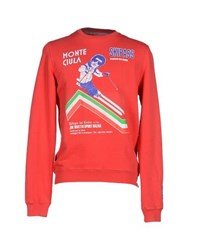 Joe Rivetto Topwear Sweatshirts Men Red