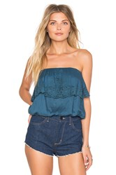 Amuse Society Cassia Woven Tube Top Blue