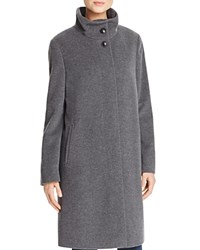 Basler High Neck A Line Coat Gray Melange