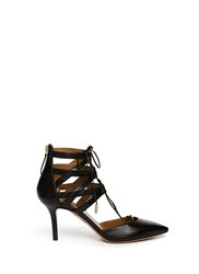 Aquazzura 'Belgravia' Caged Leather Pumps Black