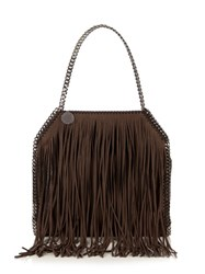 Stella Mccartney Falabella Fringed Shoulder Bag Brown