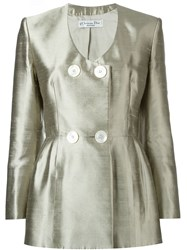 Christian Dior Vintage Double Breasted Jacket Metallic