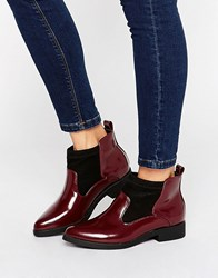 Park Lane Ankle Boots Wine Red