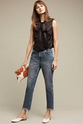 Anthropologie Pilcro Tilde Ultra High Rise Cropped Jeans Denim Light