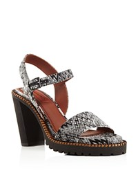 Missoni Lotus Ankle Strap High Heel Sandals Gray