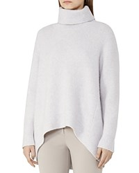 Reiss Philberta High Low Turtleneck Sweater Frost Gray