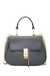 Segolene En Cuir Noelle Leather Handbag Gray