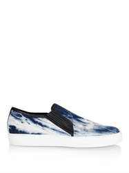 Balmain Tie Dye Slip On Cotton Canvas Trainers