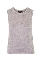 Topshop Knitted Tank Top Pale Pink