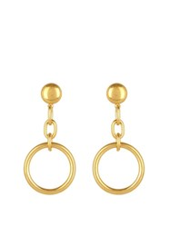 Marni Circle And Chain Drop Earrings Gold