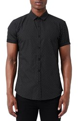Topman Men's Dot Print Short Sleeve Shirt