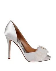 Badgley Mischka Piper Satin D Orsay Pumps White Satin