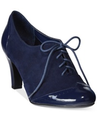 Giani Bernini Vickii Oxford Lace Up Booties Only At Macy's Women's Shoes Deep Midnight