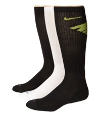 Nike Dri Fit Fly Crew 3 Pair Pack Black Cyber White Black Black Grey Crew Cut Socks Shoes Multi