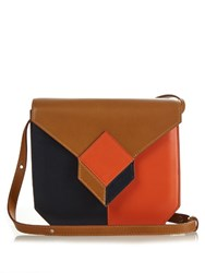 Pierre Hardy Prism Cube Panel Leather Cross Body Bag Tan Multi