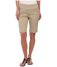 Jag Jeans Ainsley Bermuda Classic Fit Bay Twill British Khaki Women's Shorts Brown