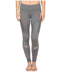 Alo Yoga Moto Leggings Cadet Grey Cadet Grey Glossy Women's Casual Pants Gray