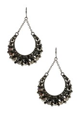 Amrita Singh Crystal Half Moon Earrings Multi