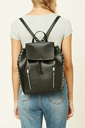 Forever 21 Faux Leather Stud Backpack