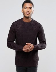 Brave Soul Colour Twist Jumper With Raglan Sleeve Navy