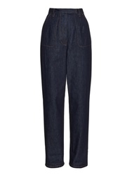 Red Valentino Cropped High Rise Jeans