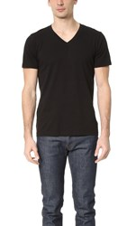 Splendid Mills Pigment Reactive Dyed V Neck Tee Black X1