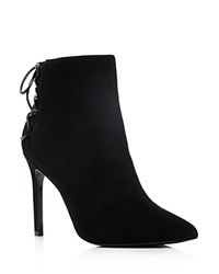 Charles David Catherine Pointed Toe High Heel Booties Black