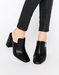 Truffle Collection Harp Heeled Mules Black