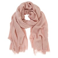 Mint Velvet Plain Textured Scarf Pale Pink