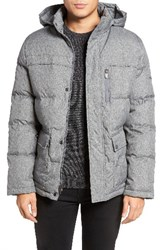Kenneth Cole Men's New York Hooded Down And Feather Fill Jacket