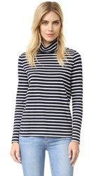 Demy Lee Andy Stripe Turtleneck Stripe Navy