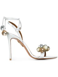 Aquazzura 'Disco Thing' Sandals Metallic