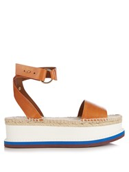 Stella Mccartney Espadrille Platform Sandals Tan