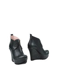 Andrea Bernes Shoe Boots Dark Green