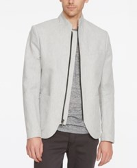 Kenneth Cole New York Men's Zip Front Patch Pocket Jacket Dim Grey Combo