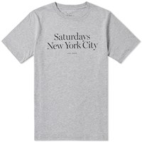 Saturdays Surf Nyc Miller Standard Tee Grey