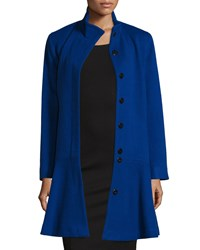 Sofia Cashmere Wool Cashmere Princess Flared Coat Cobalt