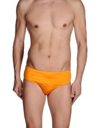 Just Cavalli Beachwear Brief Trunks Orange