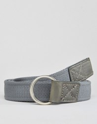 Asos Long Ended Belt In Charcoal Charcoal Grey
