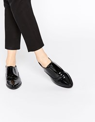Asos Match Point Pointed Flat Shoes Black