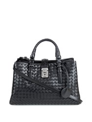 Bottega Veneta Mini Roma Intrecciato Leather Tote