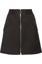 Tim Coppens Wool Twill Mini Skirt Black