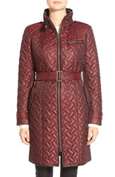 Women's Cole Haan Belted Quilted Coat