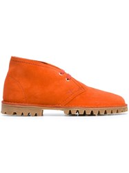 Car Shoe Ankle Boots Yellow And Orange