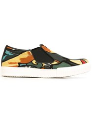 Marni Floral Pattern Slip On Sneakers Multicolour