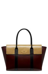 Mulberry 'New Bayswater Crossboarded' Leather Satchel