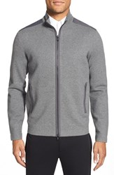 Men's Theory 'Iggers' Trim Fit Zip Front Sweater