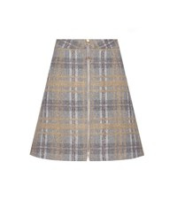 Acne Studios Prisca Check Tweed Wool And Mohair Blend Miniskirt Grey